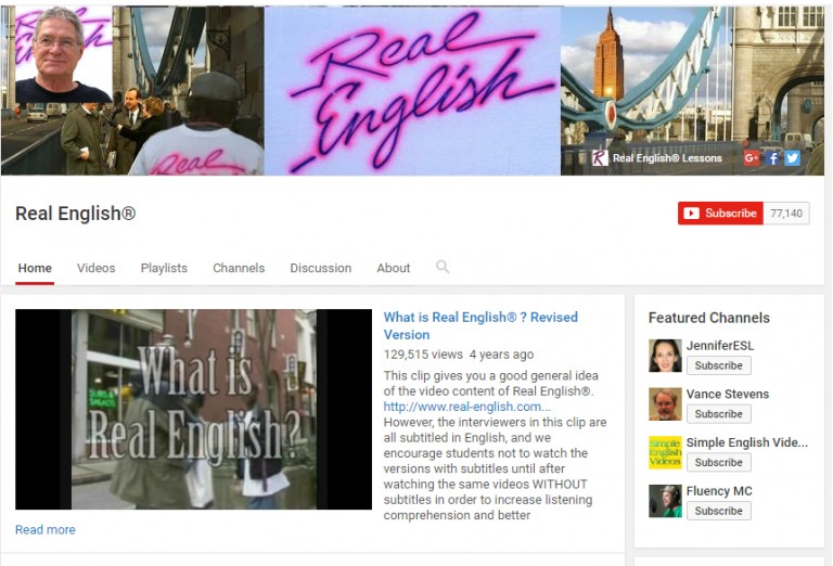 768x522 real english chanel - Best Youtube Channels For Learning English
