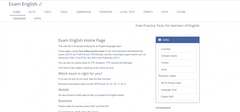Exam English - Top 10 Best Websites To Learn English