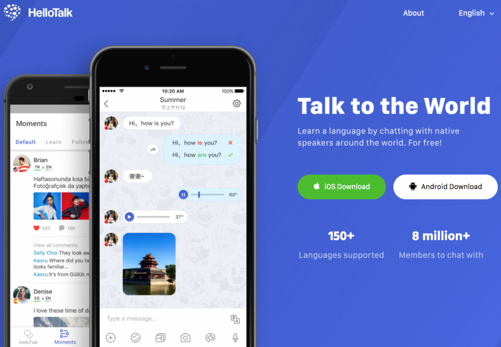 hellotalk homepage screenshot scaled 1280x888 2 1024x710 - 10 Best Apps to Learn English