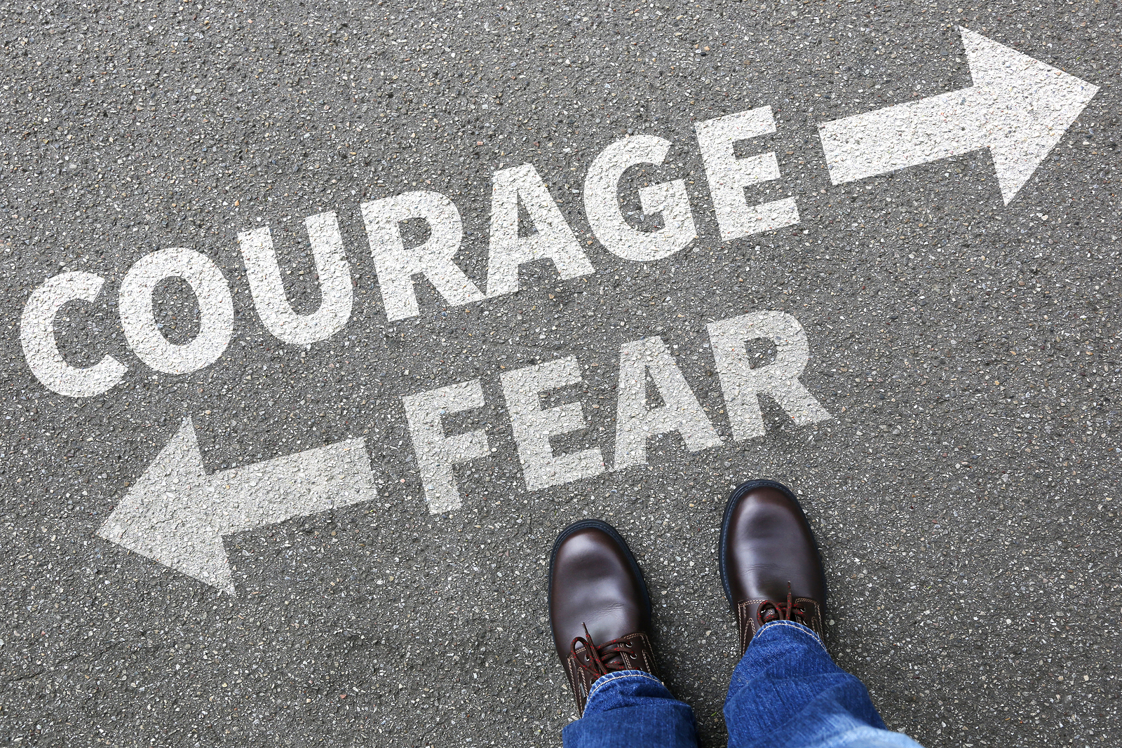 bigstock Courage And Fear Risk Safety F 129024722 - Advanced English Vocabulary - Words to INSPIRE