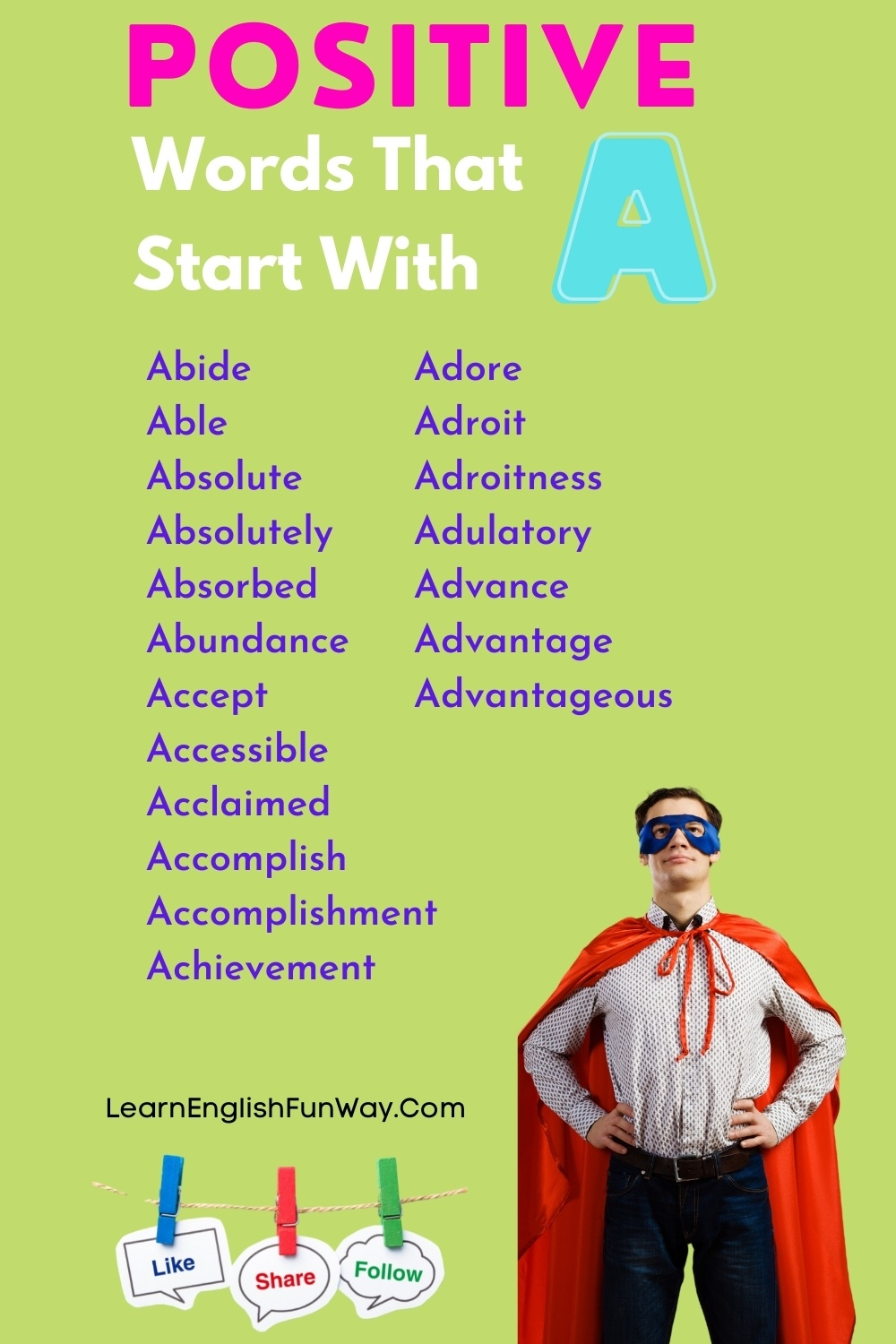 list of positive words that start with A - Positive Words That Start With A