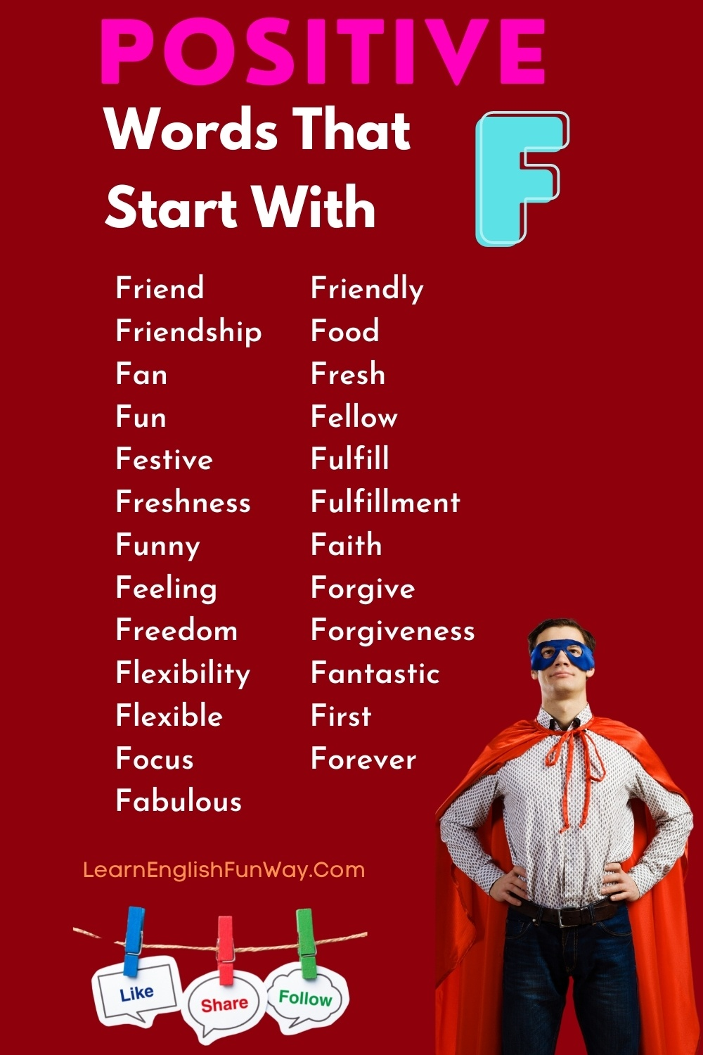 list of positive words that start with F - Positive Words That Start With F