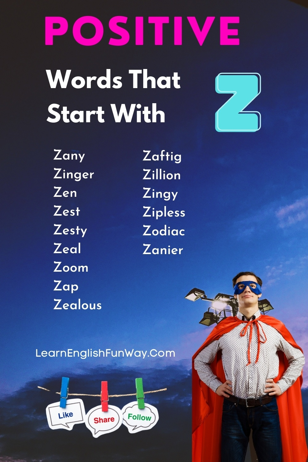 list of positive words that start with Z - Positive Words That Start With Z