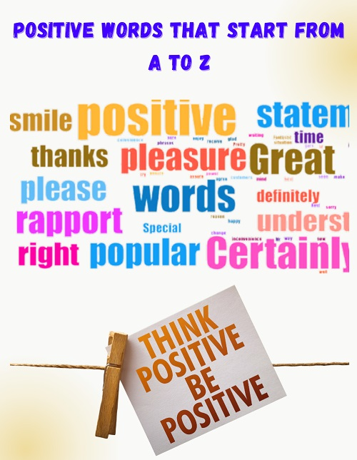 Positive Words That Start From A To Z - Positive Words That Start From A To Z