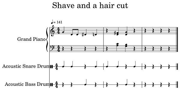 Shave and A Haircut - Shave and A Haircut - Shave and A Haircut Meaning
